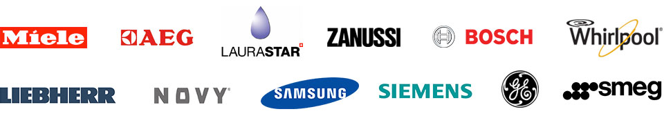 Miele - AEG - Laurastar - Zanussi - Bosch - Whirlpool - Liebherr - Novy - Samsung - Siemens - GE - Smeg